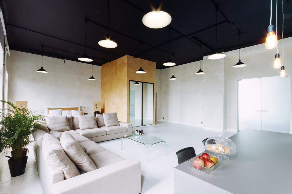 Черный потолок в интерьере: оригинальные идеи. Потолок с подсветкой