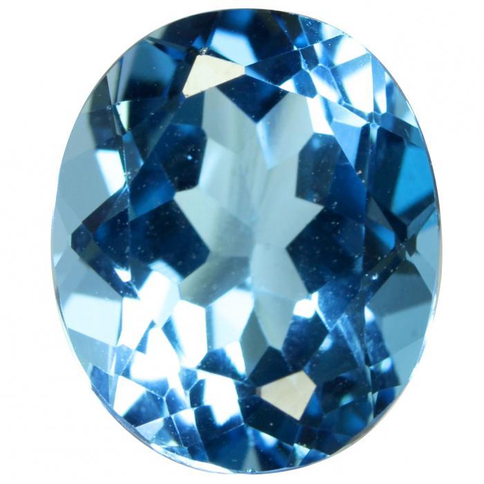 Голубые прозрачные камни