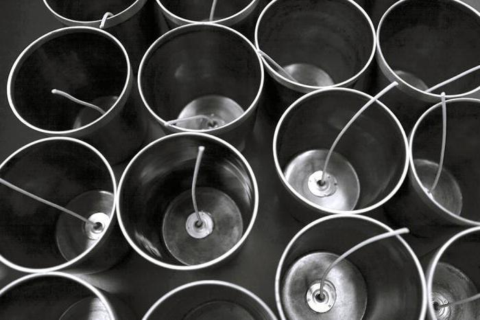 изготовление парафиновых свечей