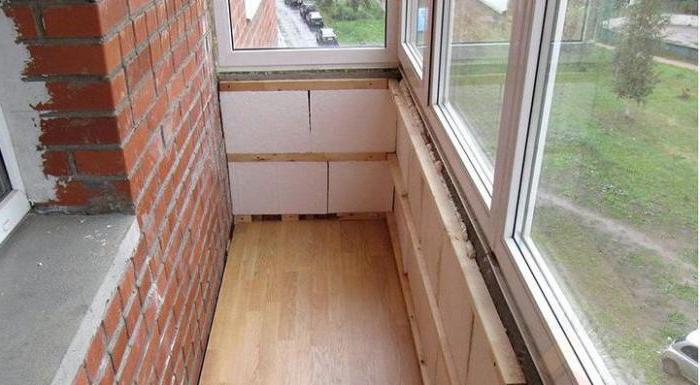 расширение основания балкона