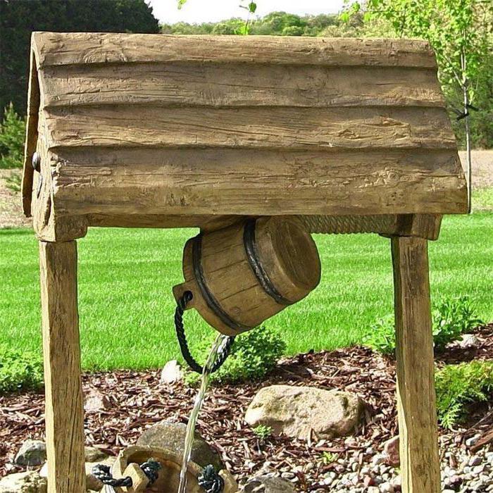как сделать деревянный колодец своими руками