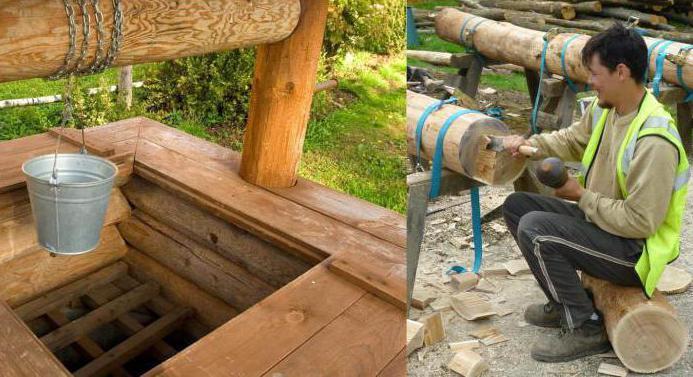деревянные колодцы срубы