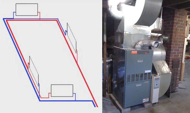 Попутная схема системы отопления петля тихельмана фото 742
