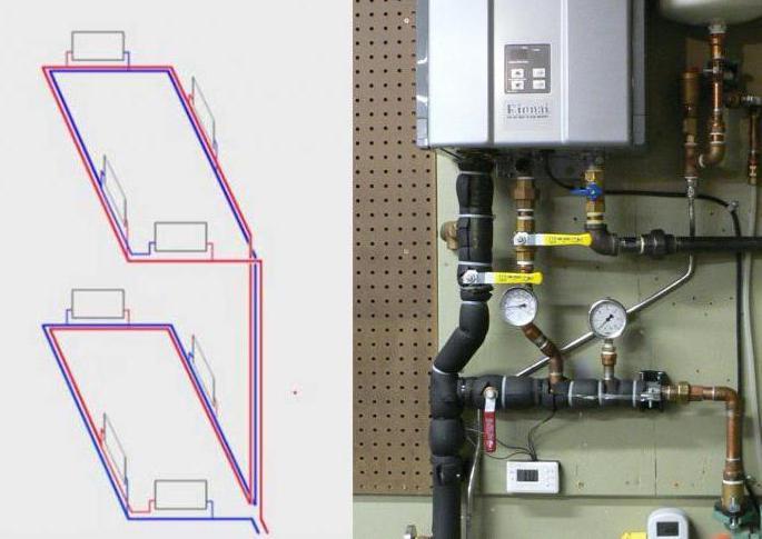Попутная схема системы отопления петля тихельмана фото 479