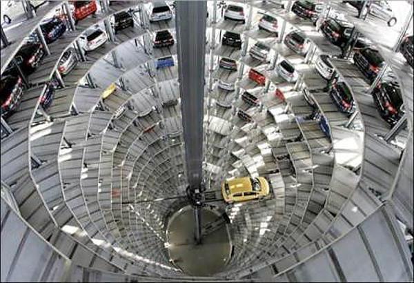 многоуровневые открытые парковки