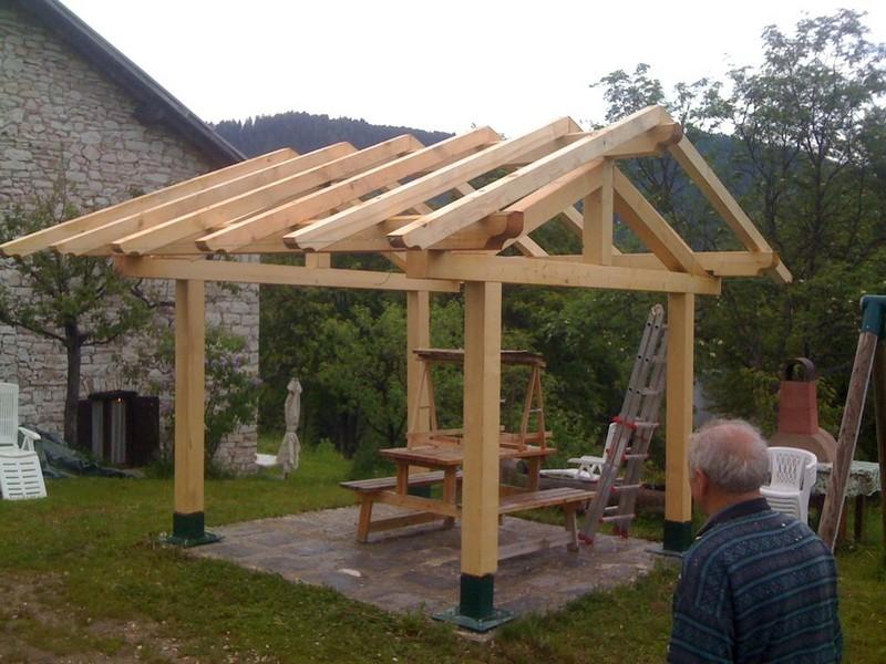 Gable roof gazebo