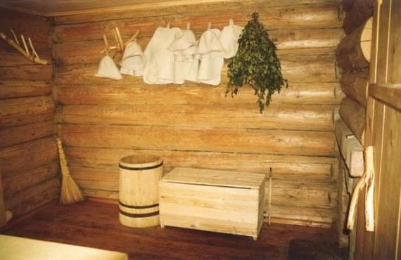 баня из бревен