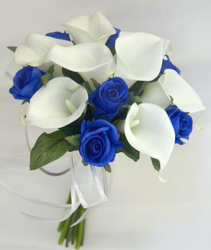 Синие розы с калами