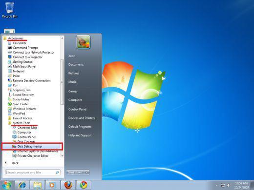 как сделать дефрагментацию диска на windows 7