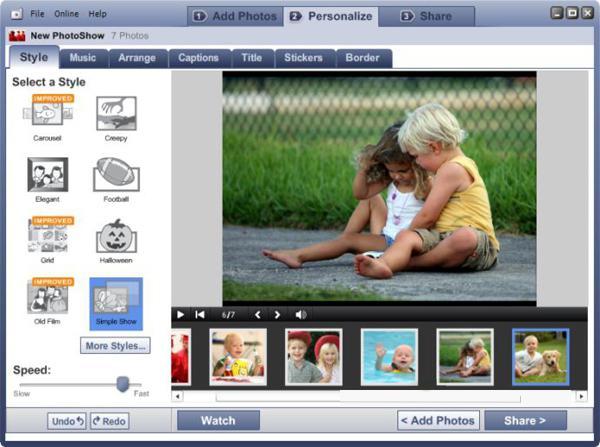 слайд шоу из фотографий программа