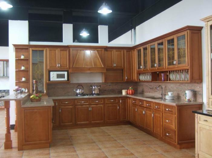 высота настенных кухонных шкафов