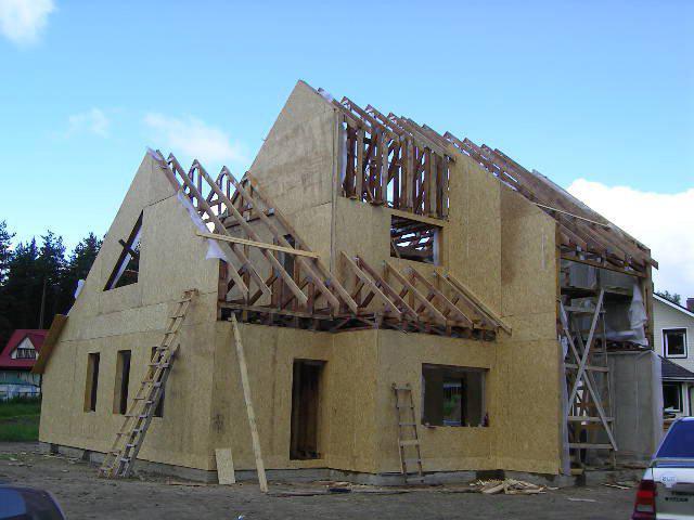 Wie Im Fall Von Rahmen Panel Haus, Wollen Sie Keine Teure Ausrüstung In Den  Bau Eines Solchen Gebäudes Verwenden. Verarbeitete Elementartafel   Mit  Hilfe ...