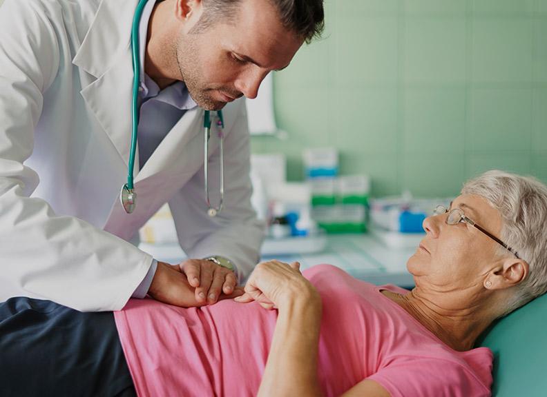 Пальпация поможет установить диагноз
