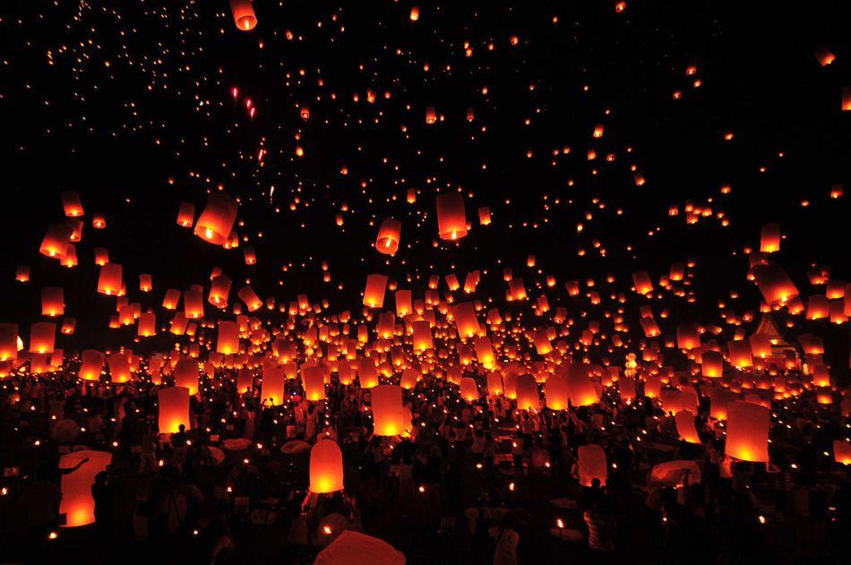 Огни в небе картинки