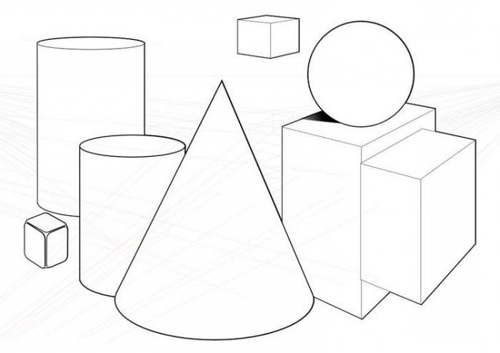схемы объемных геометрических