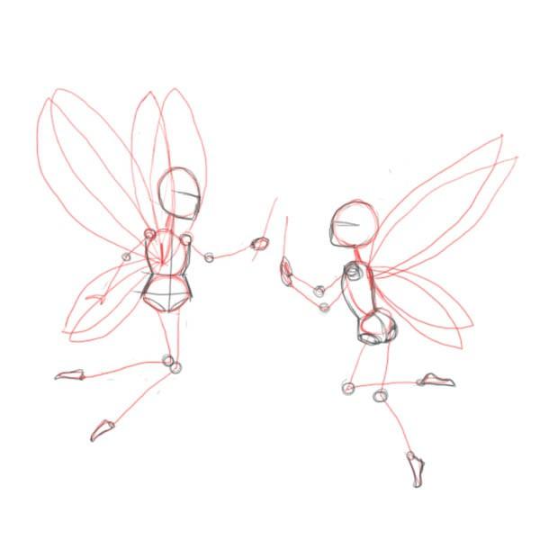 как нарисовать фею
