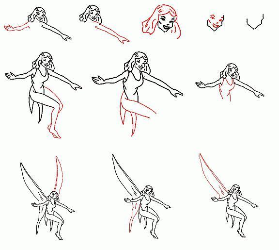 как рисовать хвост феи