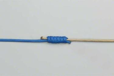 как связать шнур с леской