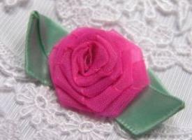 изготовление роз из ткани
