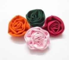 как сделать розу из ткани своими руками