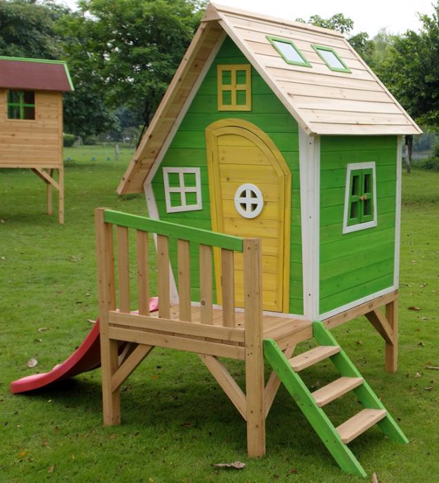 Деревянный домик на детскую площадку своими руками