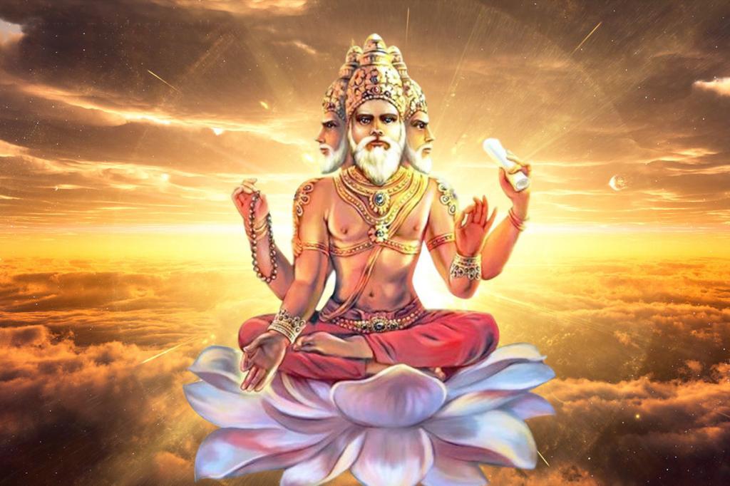 Индийский бог Брахма