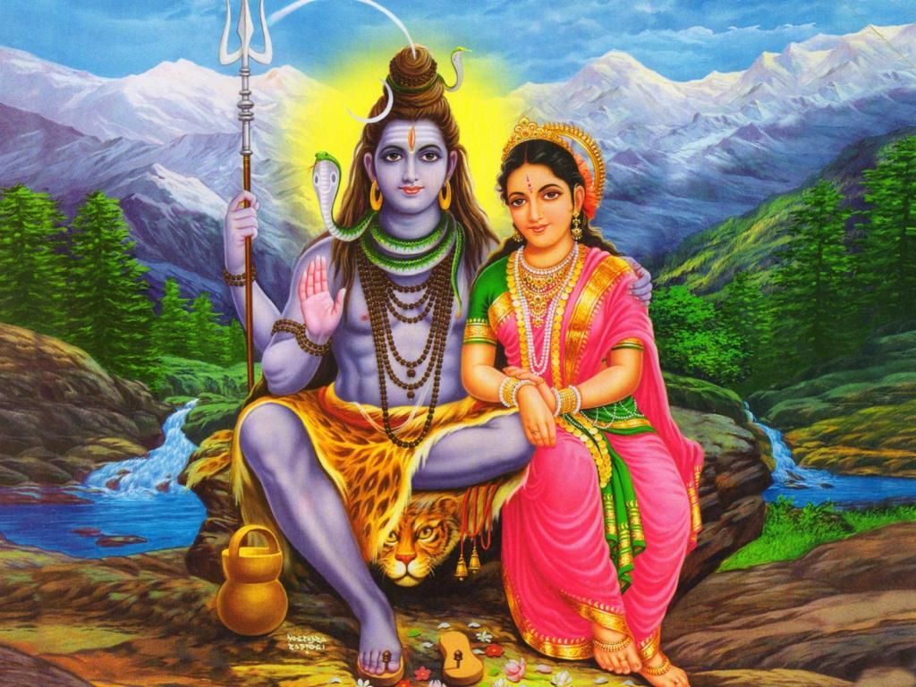 Шива с супругой Парвати