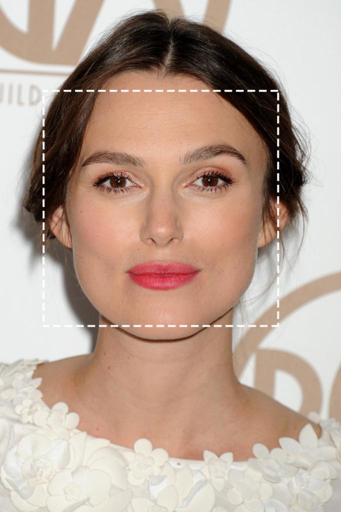 прямоугольное лицо с острым подбородком фото