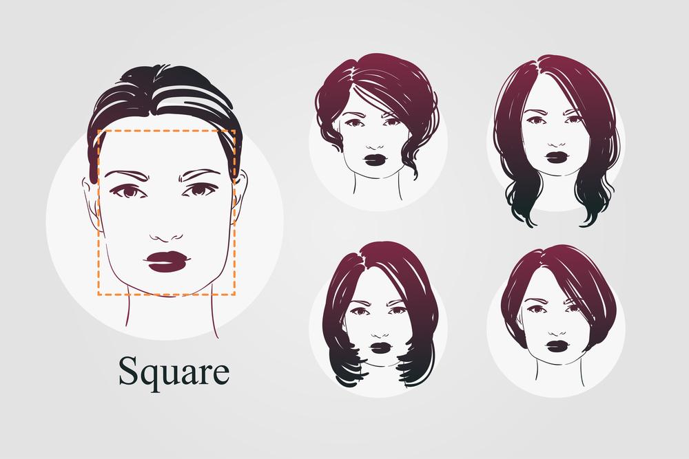 Какая прическа подходит для квадратного лица: обзор стрижек, варианты и фото