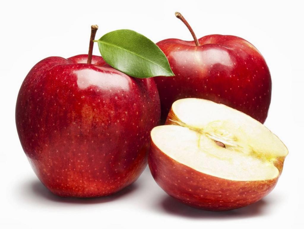 Apple red, white inside