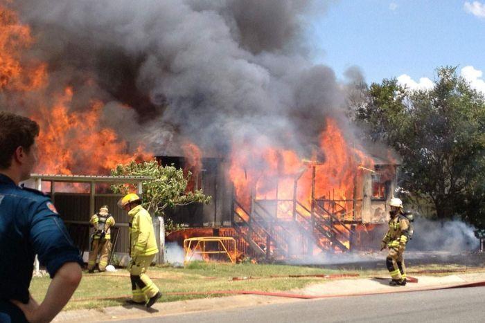 Пожар в Брисбене