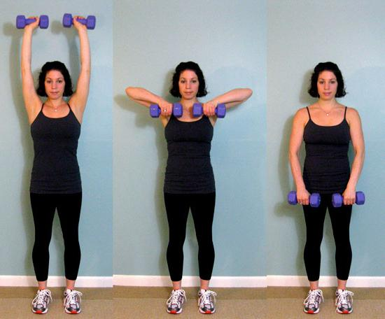 упражнения для похудения плеч и рук