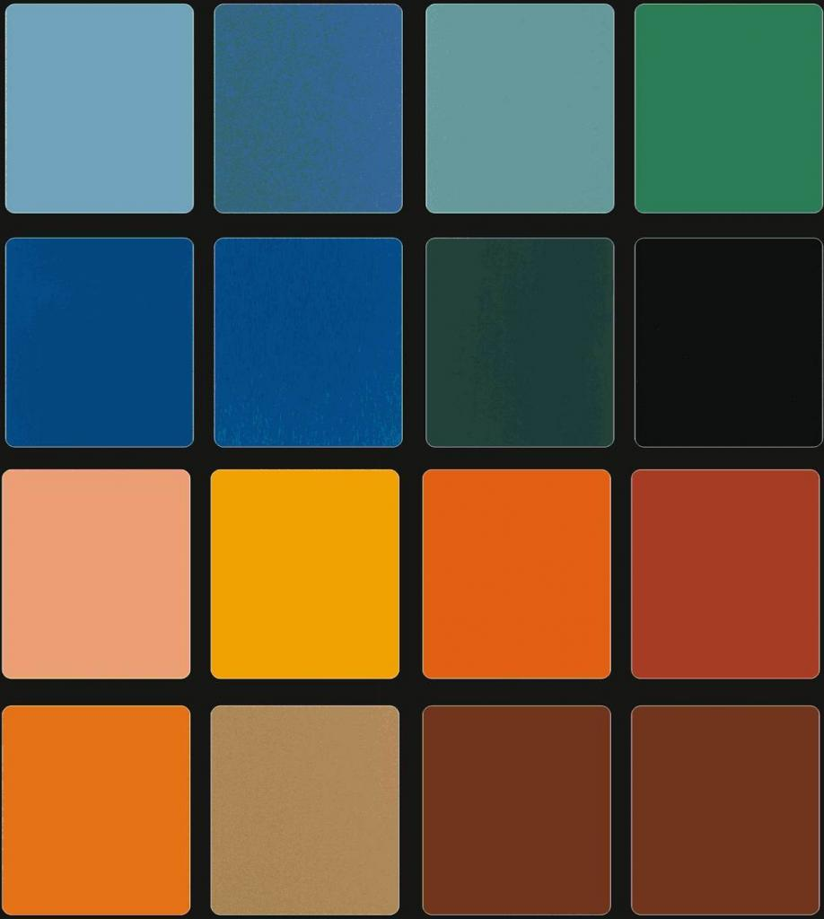 Pallette colors