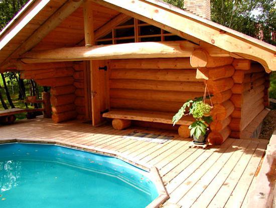 дома бани из оцилиндрованного бревна