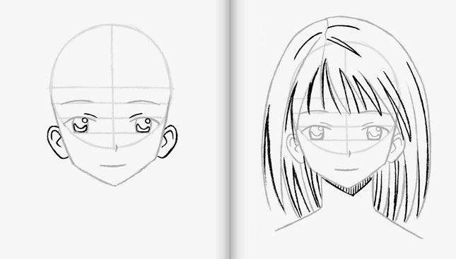 рисование аниме карандашом