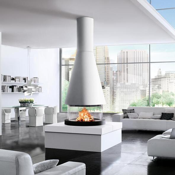 дизайн интерьера гостинной с камином