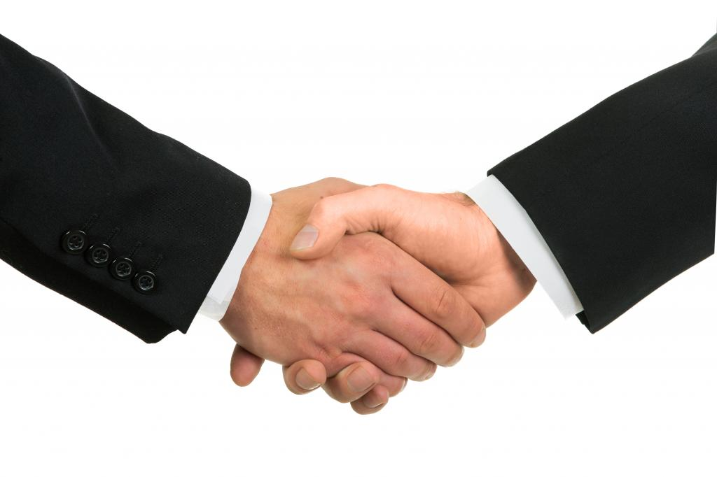 Handshake as a sign of agreement