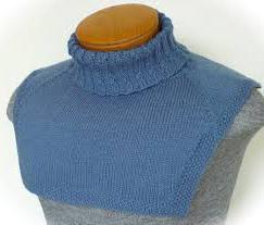 Вязание спицами манишки для женщин