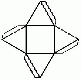 Построить развертку пирамиды