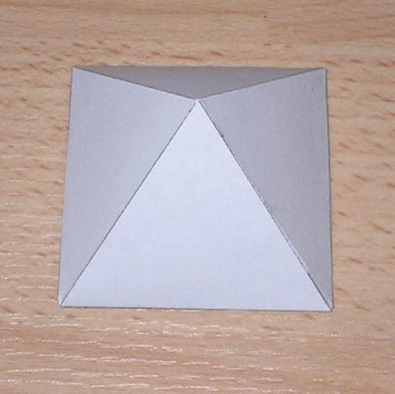 Развертка четырехугольной пирамиды