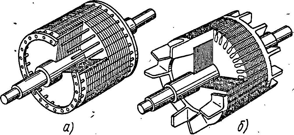 Технический рисунок короткозамкнутого ротора