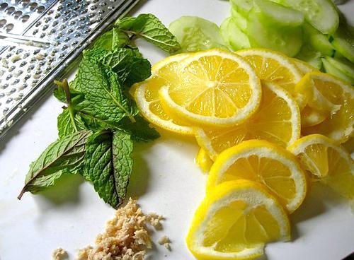 Вода с имбирем и лимоном для похудения