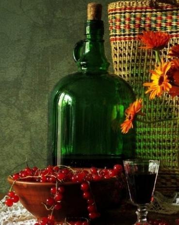 Домашние вино из чёрной смородины рецепт с фото