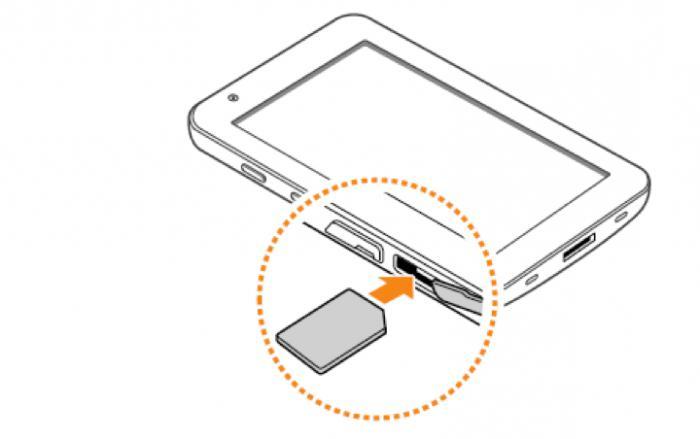 как вставить симку в планшет