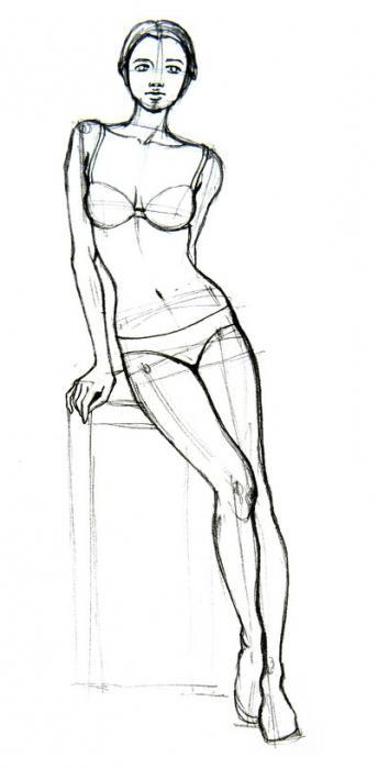 Пошаговое рисование карандашом секс