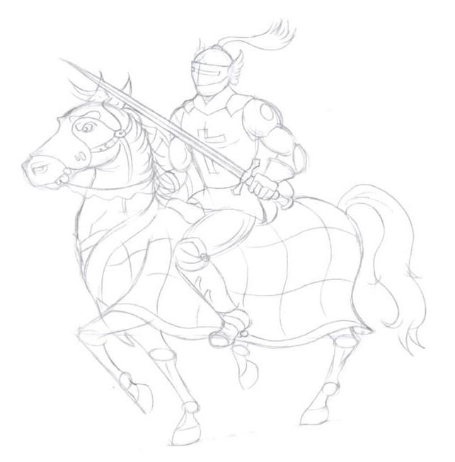 как нарисовать рыцаря