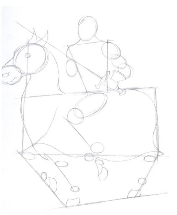 как нарисовать рыцаря карандашом