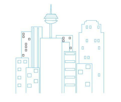 как нарисовать город