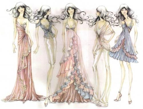 a39b767dc2c Эскизы платьев для начинающих. Эскизы платьев карандашом для ...