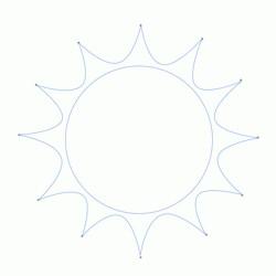 как нарисовать солнце